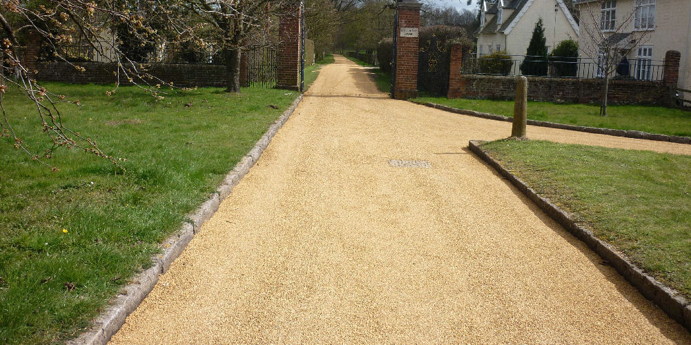 resurfaced estate road in suffolk
