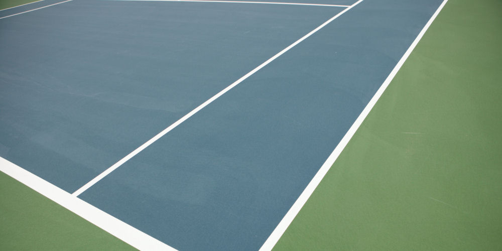 A recent tennis court installation