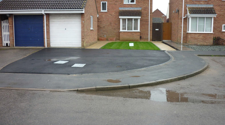 a recently finished driveway project