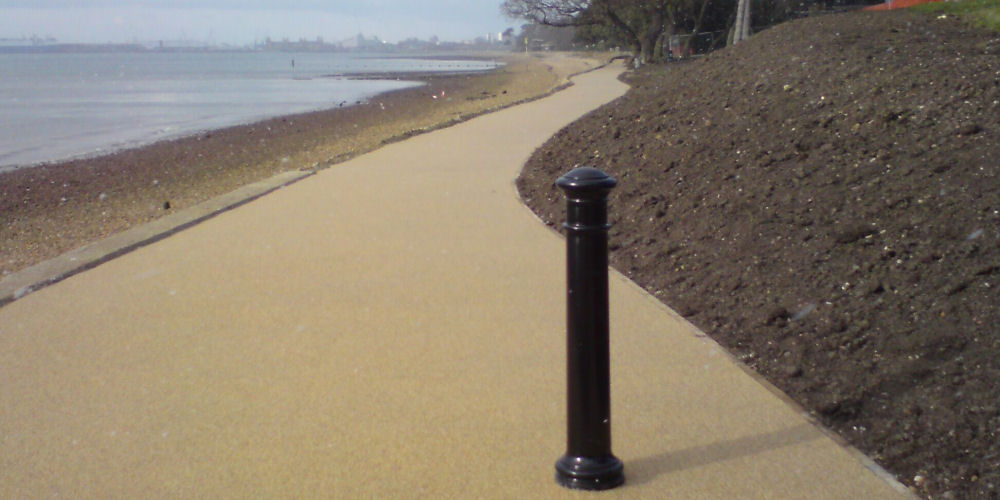 a resin surfacing walkway