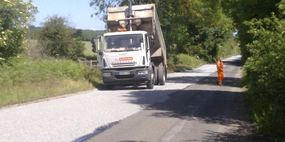 a large Road Surface Dressing drivway